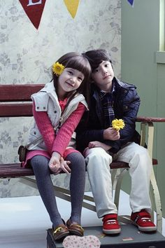 Daniel Lachapelle and Christina Fernandez Lee... Both kids are SO CUTE