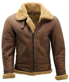Best Seller Infinity Men s Brown B3 Shearling Sheepskin WW 2 Bomber Leather  Flying Aviator Jacket online. Veste Aviateur HommesVestes ... 76300c2141c