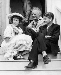 Jane Wyman, Charles Bickford and Lew Ayres on set of Johnny Belinda ...