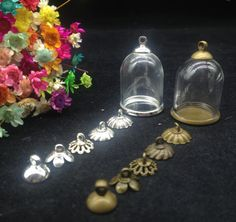 Cheap glass globe, Buy Quality glass vial pendant directly from China vial pendant Suppliers: 5sets/lot 25*18mm tube glass globe ordinary silver/ bronze plated base beads cap set glass vials pendant glass bottle findings Enjoy ✓Free Shipping Worldwide! ✓Limited Time Sale ✓Easy Return. Globe Picture, Bronze, Glass Vials, Mason Jar Lamp, Bead Caps, Glass Pendants, Snow Globes, Fun Stuff, Plating
