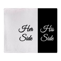 His And Hers Gifts Fun Side Her Throw Blanket Gives Pretty Accurate