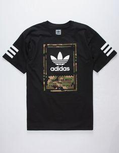 e8eac223934d7 ADIDAS Camo Classic Mens T-Shirt - BLACK - 319582100