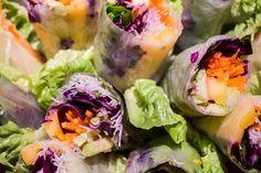 Fresh Rolls, Ethnic Recipes, Food, Vegetarian Spring Rolls, Mango, Healthy Snacks, Essen, Meals, Yemek