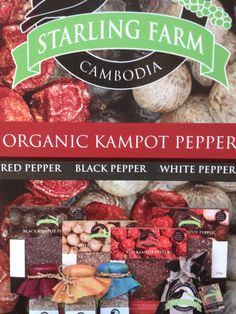 Highly acclaimed Kampot Pepper