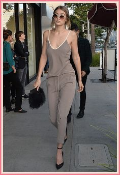 If anyone can pull off 90s neutrals for SS16, it's Gigi Hadid.