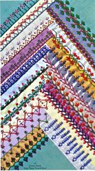 crazy quilt stitches; I;m freaking out; it is so fabulous!!  More great ideas and inspiration!  ~Klasko
