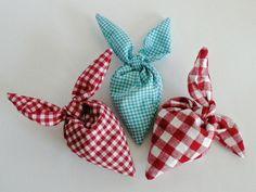 Duftkissen & -säckchen - LAVENDEL Herz 2-er VICHY Duftsäckchen Duftbeutel - ein Designerstück von wiesen-gruen bei DaWanda