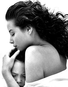 Christy Turlington for Calvin Klein Eternity fragrance campaign by Bruce Weber