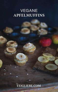 Einfaches Rezept für vegane Apfelmuffins