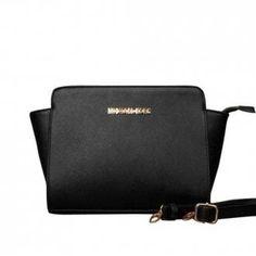 Michael Kors Selma Messenger Medium Black Crossbody Bags