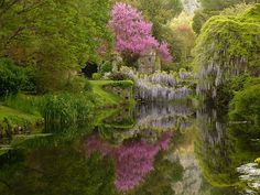 Garden of Ninfa in the Lazio region of Italy.   