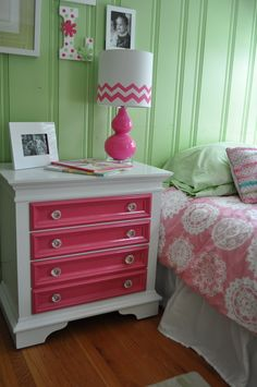 LOVED THE LITTLE ONES' BEDROOMS!  Next, let's do a spring like Raspberry and Mint green cottage