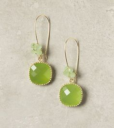 REVEL: Green Earrings, bridesmaid accents?