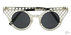 Óculos De Sol Gatinha Com Grade Vazada || Ui! Gafas