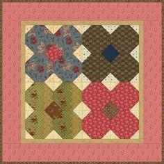 Mayflowers Quilt - free pattern @ Country Lane Quilts: http://www.countrylanequilts.com/sitebuildercontent/sitebuilderfiles/MayFlowersquilt.pdf