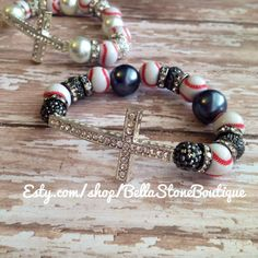 Love Faith and baseball chunky sparkly by BellaStoneBoutique