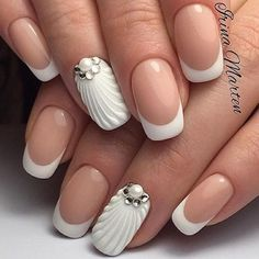 Awesome 37 Amazing French Manicure Nail Art Designs Ideas. More at https://outfitsbuzz.com/2018/03/02/37-amazing-french-manicure-nail-art-designs-ideas/