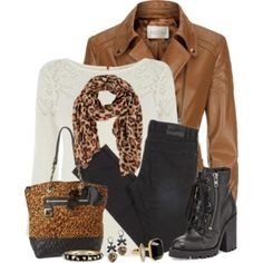 Boat Neck Sweater, Leather Jacket, Skinny Jeans, and Boots
