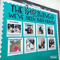"""This time of year can be a little trying, so I'm trying my best to stay focused and concentrate on all the positive things happening in our…"" Classroom Bulletin Boards, Classroom Community, Classroom Setting, Classroom Door, Classroom Displays, School Classroom, Classroom Themes, Classroom Organization, Classroom Management"
