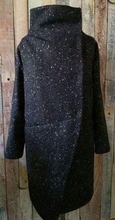 Верхняя одежда ручной работы. Ярмарка Мастеров - ручная работа. Купить Пальто зимнее.. Handmade. Черный, пальто теплое, шерстепон