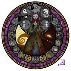 Stained Glass: Sally by Akili-Amethyst on DeviantArt
