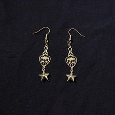 #stars #star #sailormoon #romantic #romantique #spring #printemps #earrings #golden #brass #weird #dark #goth #antic #pagan #jugendstil #galactic #univers