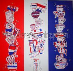 Gemaakt door leerlingen van groep 6   Benodigdheden:   wit tekenpapier A6 formaat (briefkaart)  potloden  viltstiften in rood en blauw  z...