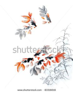chinese fish drawings - Google Search