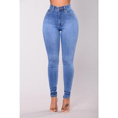 Precious Fit High Waisted Jean Medium ❤ liked on Polyvore featuring jeans, high-waisted skinny jeans, skinny leg jeans, blue jeans, high waisted denim skinny jeans and high waisted jeans