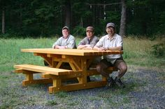 Picnic table for county parks