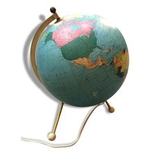 Globe terrestre lumineux années 60