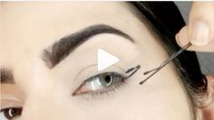 Brilliant eyeliner trick alert. A makeup artist on Instagram called beautynmalia used a bobby pin to create winged liner, and the result was perfectly even.