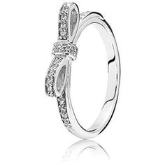 Sparkling Bow Ring Clear CZ