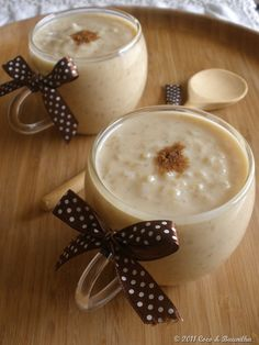 Menu: arroz con leche (Spanish rice pudding)