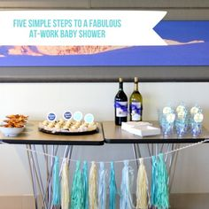 Five Simple Essentails For Putting Together A Fabulous (and Personal)  At Work Baby · Work Baby ShowersOffice ...