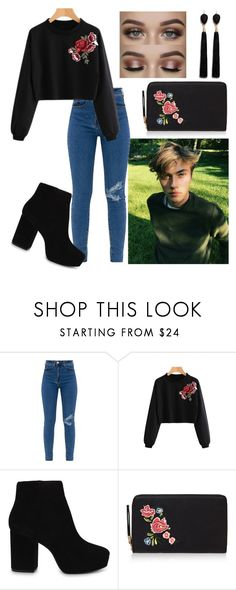 """LUCKY BLUE SMITH 💜"" by dicece ❤ liked on Polyvore featuring WithChic, ALDO and Mignonne Gavigan"