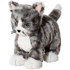IKEA Kitty Cat Plush Stuffed Animal Soft Toy Gray White Tabby Lilleplutt NEW ** Click image to review more details. (This is an affiliate link) #PlushFigures