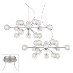 Possini Euro Orbs Brushed Nickel Double Multi Light Pendant