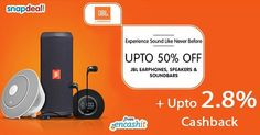 Upto 50% off on earphones speakers & soundbars @snapdeal  get 2.8% extra cashback from us> ow.ly/XDfbb  #speakers #soundbars #earphones #headphones #snapdealofers #snapdealdeals #cashbackoffers #snapdealcashback #snapdealcashbackoffers