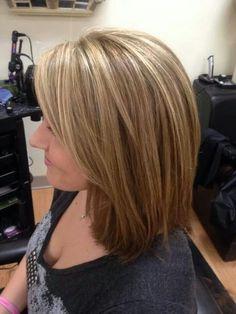 Medium Thin Hair, Medium Layered Hair, Mom Hairstyles, Pretty Hairstyles, Medium Hair Styles For Women, Long Hair Styles, Blonde Layered Hair, Shoulder Haircut, Hair Photo