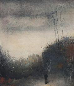 Jan Mankes (Dutch, 1889-1920) Hill in Brongerga. Painting, 1910 Oil on canvas on panel, 13 x 11,5 cm