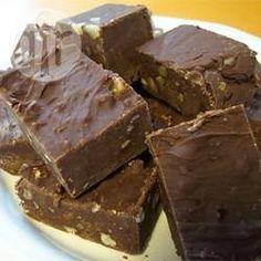 Snelle chocoladefudge @ allrecipes.nl