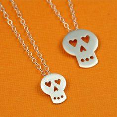 Tiny heart eyed skull necklace from anoriginal jewelry on etsy