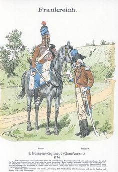 Band XVIII #44.- Frankreich. 2. Hus. Rgt. (Chamberant). 1794.