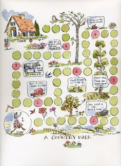 create a board game based on local walks | Claire Fletcher