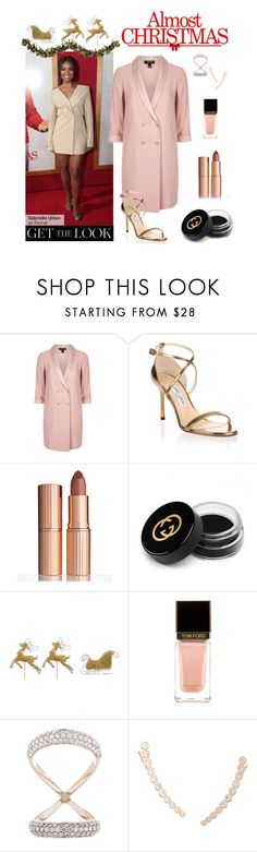 """""""Gabrielle Union in Almost Christmas"""" by polyvore-editorial ❤ liked on Polyvore featuring Tt Collection, Topshop, Jimmy Choo, Charlotte Tilbury, Gucci, Tom Ford, Carbon & Hyde, Humble Chic, Improvements and almostchristmas"""