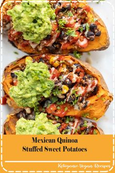Hypoallergenic Pet Dog Food Items Diet Program These Mexican Quinoa Stuffed Sweet Potatoes Are The Ultimate Plant-Based Meal Packed With Fiber And Protein, They're Filling, Tasty And Easy To Make # Vegan Meal Prep, Healthy Cooking, Gourmet Recipes, Cooking Recipes, Healthy Recipes, Dinner Recipes, Vegetarian Sweet Potato Recipes, Healthy High Protein Meals, High Protein Dinner