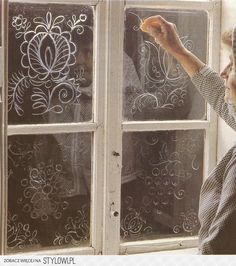 use soap to draw on the window