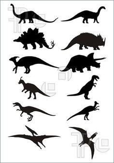Illustration of dinosaur silhouette