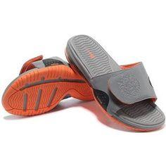 http://www.asneakers4u.com/ Nike Air Max Lebron Slippers Grey/Orange
